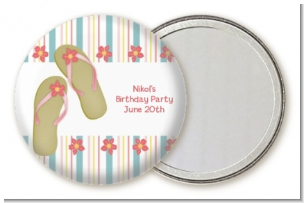 Flip Flops - Personalized Birthday Party Pocket Mirror Favors