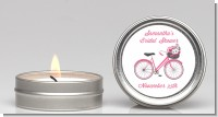 Floral Bicycle - Bridal Shower Candle Favors