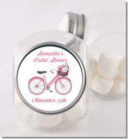 Floral Bicycle - Personalized Bridal Shower Candy Jar