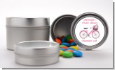 Floral Bicycle - Custom Bridal Shower Favor Tins