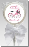 Floral Bicycle - Personalized Bridal Shower Lollipop Favors