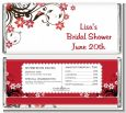 Floral Blossom - Personalized Bridal Shower Candy Bar Wrappers thumbnail