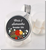 Floral Motif - Personalized Bridal Shower Candy Jar