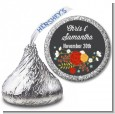 Floral Motif - Hershey Kiss Bridal Shower Sticker Labels thumbnail