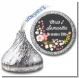 Floral Motif Pink - Hershey Kiss Bridal Shower Sticker Labels thumbnail
