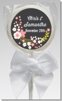 Floral Motif Pink - Personalized Bridal Shower Lollipop Favors