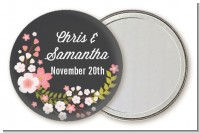 Floral Motif Pink - Personalized Bridal Shower Pocket Mirror Favors