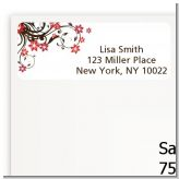 Floral Blossom - Bridal Shower Return Address Labels