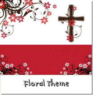 Floral Cross Baptism Theme