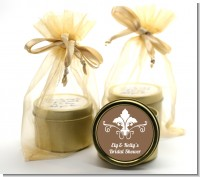 Fluer de Lis - Bridal Shower Gold Tin Candle Favors