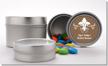 Fluer De Lis - Custom Bridal Shower Favor Tins
