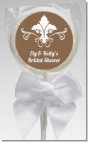 Fluer De Lis - Personalized Bridal Shower Lollipop Favors