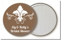 Fluer De Lis - Personalized Bridal Shower Pocket Mirror Favors