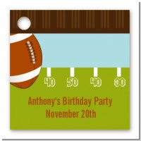 Football - Personalized Birthday Party Card Stock Favor Tags