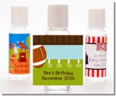 Football - Personalized Birthday Party Hand Sanitizers Favors