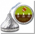 Football - Hershey Kiss Birthday Party Sticker Labels thumbnail