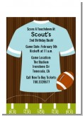 Football - Birthday Party Petite Invitations