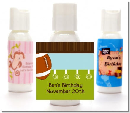 Football - Personalized Birthday Party Lotion Favors