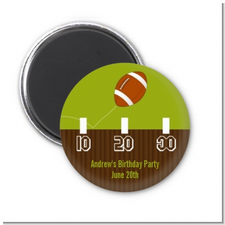 Football - Personalized Birthday Party Magnet Favors