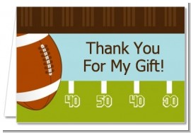 Football - Birthday Party Thank You Cards