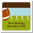 Football - Square Personalized Birthday Party Sticker Labels thumbnail