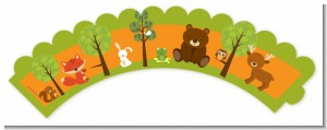Forest Animals - Baby Shower Cupcake Wrappers