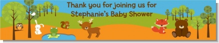 Forest Animals - Personalized Baby Shower Banners