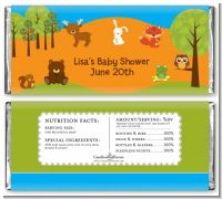 Forest Animals - Personalized Baby Shower Candy Bar Wrappers