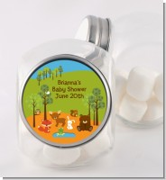 Forest Animals - Personalized Baby Shower Candy Jar