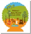 Forest Animals - Personalized Baby Shower Centerpiece Stand thumbnail