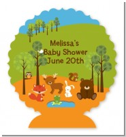 Forest Animals - Personalized Baby Shower Centerpiece Stand