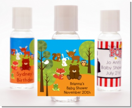 Forest Animals - Personalized Baby Shower Hand Sanitizers Favors