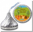 Forest Animals - Hershey Kiss Baby Shower Sticker Labels thumbnail