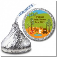 Forest Animals - Hershey Kiss Baby Shower Sticker Labels