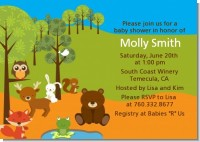 Forest Animals - Baby Shower Invitations