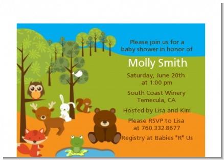 Forest Animals - Baby Shower Petite Invitations