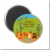 Forest Animals - Personalized Baby Shower Magnet Favors