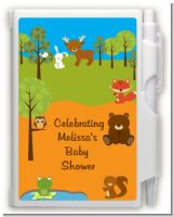 Forest Animals - Baby Shower Personalized Notebook Favor