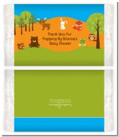 Forest Animals - Personalized Popcorn Wrapper Baby Shower Favors