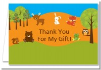 Forest Animals - Baby Shower Thank You Cards