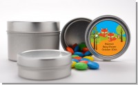 Forest Animals Twin Foxes - Custom Baby Shower Favor Tins