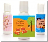 Forest Animals Twin Foxes - Personalized Baby Shower Lotion Favors