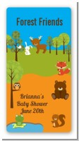 Forest Animals - Custom Rectangle Baby Shower Sticker/Labels
