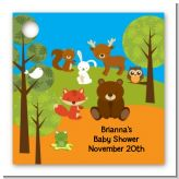 Forest Animals - Personalized Baby Shower Card Stock Favor Tags