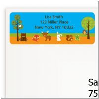 Forest Animals - Baby Shower Return Address Labels