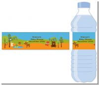 Forest Animals - Personalized Baby Shower Water Bottle Labels