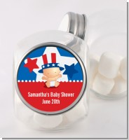 Fourth Of July Little Firecracker - Personalized Baby Shower Candy Jar