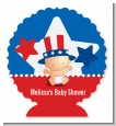 Fourth Of July Little Firecracker - Personalized Baby Shower Centerpiece Stand thumbnail