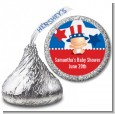 Fourth Of July Little Firecracker - Hershey Kiss Baby Shower Sticker Labels thumbnail