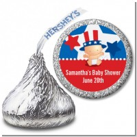 Fourth Of July Little Firecracker - Hershey Kiss Baby Shower Sticker Labels